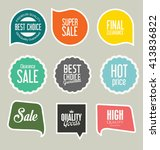 modern sale stickers collection | Shutterstock .eps vector #413836822