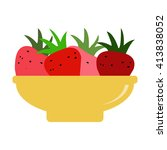 strawberries icon. strawberries ...