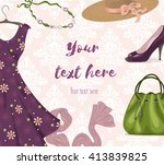 vector background for clothing... | Shutterstock .eps vector #413839825