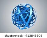 abstract 3d rendering of sphere ... | Shutterstock . vector #413845906