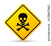 skull danger sign vector... | Shutterstock .eps vector #413847862