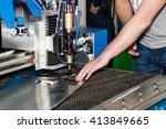 laser cutting machine  metal... | Shutterstock . vector #413849665