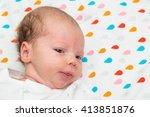 portrait of a newborn baby... | Shutterstock . vector #413851876