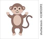 monkey icon. monkey icon vector....