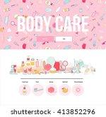 hygiene web template  flat... | Shutterstock .eps vector #413852296