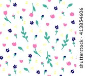 seamless pattern with different ... | Shutterstock .eps vector #413854606