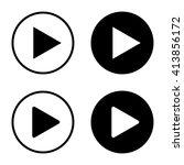 play button icon . vector... | Shutterstock .eps vector #413856172