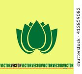 vector illustration lotus  | Shutterstock .eps vector #413859082