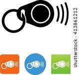 radio frequency identification  ... | Shutterstock .eps vector #413861212