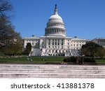 Stock photo central part of capitol in washington dc usa 413881378