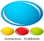oval  ellipse badge  button... | Shutterstock .eps vector #413884636