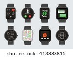 vector flat isolated smart... | Shutterstock .eps vector #413888815