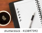 blank checklist number on a... | Shutterstock . vector #413897392