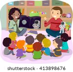 stickman illustration of... | Shutterstock .eps vector #413898676