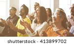audience applaud clapping... | Shutterstock . vector #413899702