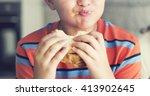 Boy Child Kid Bread Sandwich...