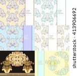 set floral pattern for a card... | Shutterstock .eps vector #413906692