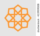 geometry islam  orange | Shutterstock .eps vector #413909008