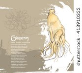 ginseng background design | Shutterstock .eps vector #413910322