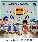 american football competition... | Shutterstock . vector #413911102