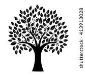tree silhouette | Shutterstock .eps vector #413913028
