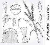 hand drawn illustration set of... | Shutterstock .eps vector #413914642