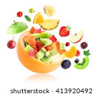 fresh fruit. fruit salad on... | Shutterstock . vector #413920492