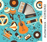 vector illustration musical... | Shutterstock .eps vector #413932432