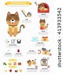 cat infographic vector... | Shutterstock .eps vector #413933542