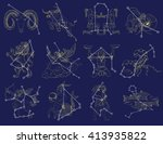 collection with zodiac symbols... | Shutterstock .eps vector #413935822