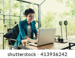 business entrepreneur asian... | Shutterstock . vector #413936242