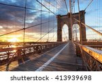 New York  Brooklyn Bridge ...