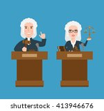 judges man and woman at the... | Shutterstock .eps vector #413946676