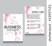vector brochure flyer design... | Shutterstock .eps vector #413957152