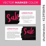set of sale banners design.... | Shutterstock .eps vector #413958496
