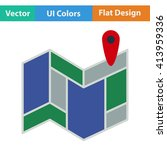 flat design icon of navigation...