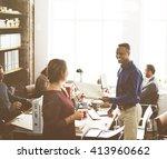 business corporation... | Shutterstock . vector #413960662