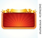 theater marquee. luxury vector... | Shutterstock .eps vector #413962342