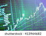 financial data on a monitor.... | Shutterstock . vector #413964682