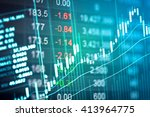 financial data on a monitor.... | Shutterstock . vector #413964775
