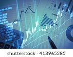 stock market information and... | Shutterstock . vector #413965285
