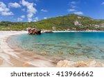 paltsi beach in pelio  thessaly ... | Shutterstock . vector #413966662