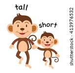 opposite words tall and short... | Shutterstock .eps vector #413976532