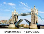 Tower Bridge Opens Over The...
