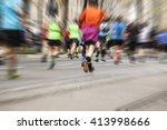 marathon runners  sport... | Shutterstock . vector #413998666