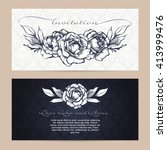 vector set of elegant... | Shutterstock .eps vector #413999476