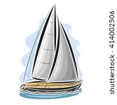 Vector Logo Sailing Yacht ...