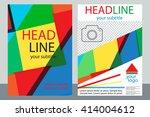 template design of brochures... | Shutterstock .eps vector #414004612
