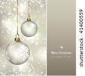 elegant christmas background... | Shutterstock .eps vector #41400559