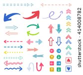 arrow  hand drawn icons   ... | Shutterstock .eps vector #414008782
